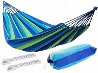 Cotton hammock Mexico 100x200cm (green-blue)