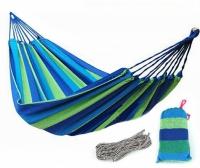 Cotton hammock Mexico 80x200cm (green-blue)
