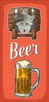 Открывалка бутылок на стену Beer