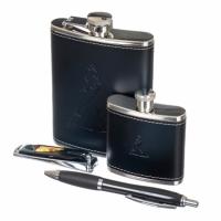 Фото Набор подарочный Jonny Walker 2 фляги, ручка, ножик
