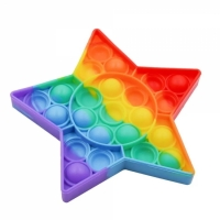 Мягкая игрушка антистресс, бесконечная пупырка Pop It Радужная звезда