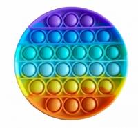 Мягкая игрушка антистресс, бесконечная пупырка Pop It Радужный круг