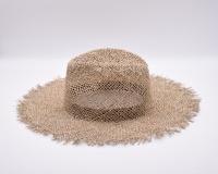 Соломенная шляпа федора с широкими полями