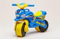 Беговел Active Baby Sport музыкальный Голубо-желтый
