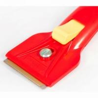 Скребок для стеклокерамических плит 16 см (Красный)