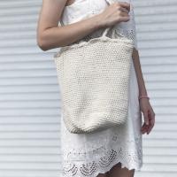 Сумка мешок плетенная (Белый)