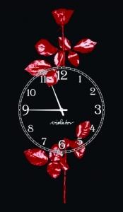 Часы на холсте Depeche Mode 25х50
