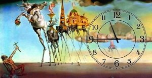 Часы на холсте Искушения святого Антония (Сальвадор Дали) 25х50