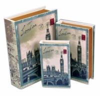 Книга-шкатулка London 3шт