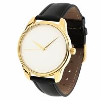 Часы Наручные Минимализм Бело-Черный Gold