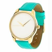 Часы Наручные Минимализм Бирюзовый Gold