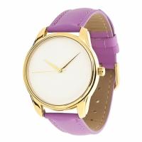 Часы Наручные Минимализм Фиолет Gold