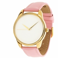 Часы Наручные Минимализм Розовый Gold