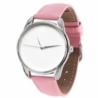 Часы наручные Минимализм розовый