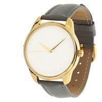 Часы Наручные Минимализм Серый Gold
