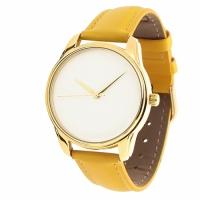 Часы Наручные Минимализм Желтый Gold