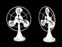 Часы Вентилятор Антиквариат White