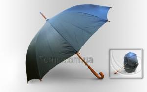 Зонт Антишторм черный трость
