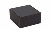 Подарочная коробка черная 21,5х22,5х11 см