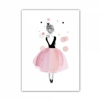Постер в рамке на стену Балерина 30х40 см
