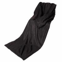 Плед с рукавами черный