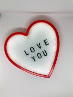 Фото Ночник светильник Сердце Light up message board с посланием