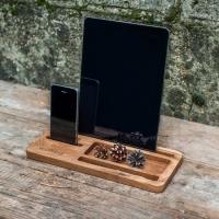 Фото4 Подставка для телефона и планшета из дерева Офисный набор