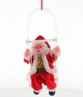 Дед Мороз на качели