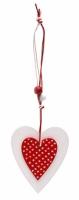 Декоративная подвеска Два Сердца