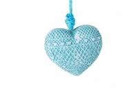 Декоративное украшение Сердце голубое
