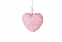 Декоративное украшение Сердце розовое