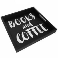 Фото Деревянный поднос Books and Coffe