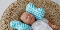 Фото Детская подушка для новорожденных Butterfly Бирюза
