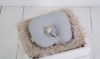 Фото Детская подушка для новорожденных с держателем Grey