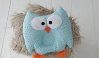 Детская подушка игрушка для новорожденных Совушка Blue