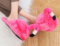 Фото Домашние тапочки Фламинго pink