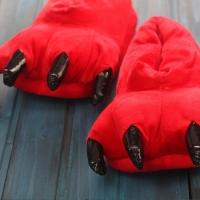 Домашние тапочки Лапы Красные
