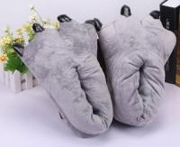 Фото Домашние тапочки кигуруми Лапы Серые