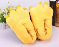 Фото Домашние тапочки кигуруми Лапы Желтые