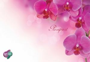Обложка на паспорт Орхидея
