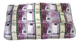 Подушка Пачки Евро и Долларов