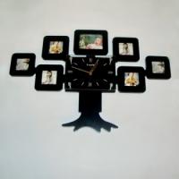 Фоторамка с часами Семейное дерево