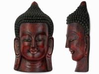 Этническая маска Будда 55 см красная
