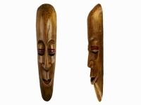 Этническая маска Камадев 37 см коричневая