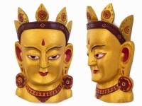 Этническая маска Тара 40 см золото