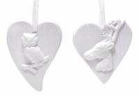 Подвесной орнамент Сердце 8см