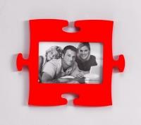 Фоторамка Пазл (Красный)