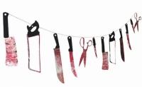 Гирлянда Ужасные ножи с кровью