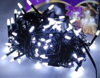 Гирлянда светодиодная LED 400 белый на черных проводах