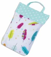 Кармашек для памперсов в детскую сумку Перышки